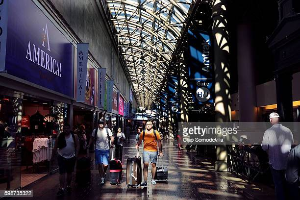 Travelers move through Union Station ahead of the long Labor Day weekend September 2 2016 in Washington DC Passengers have access to Amtrak regional...