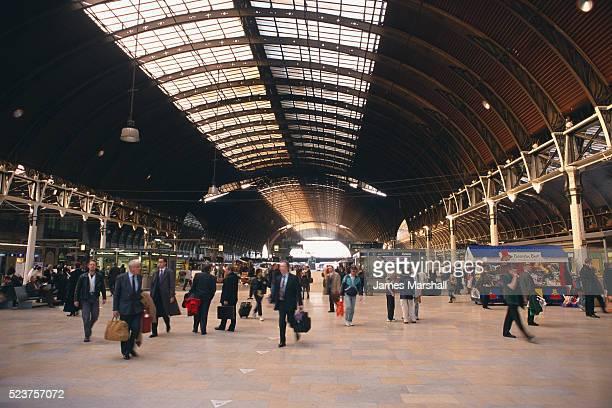 Travelers Walking Through Paddington Station