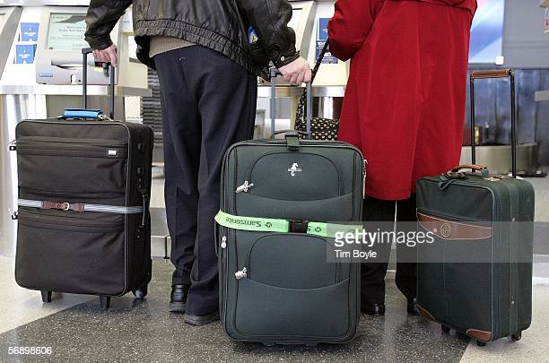 Travelers with their luggage are seen in Terminal 3 February 21 2006 at O'Hare International Airport in Chicago Illinois 2005 was reportedly a...