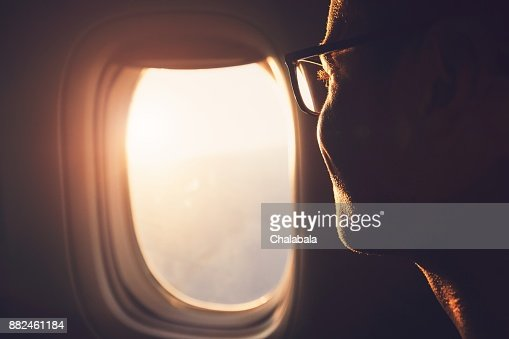 Traveling by airplane : Stock Photo