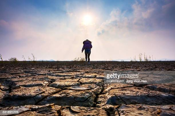 Traveling over the hard and dry world