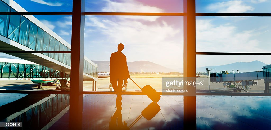 traveling with airplane : Stock Photo
