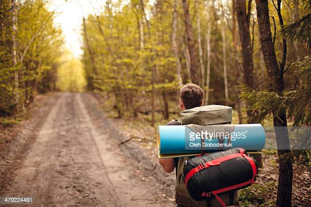 Traveling with backpack