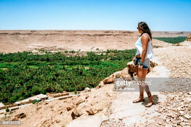 Traveling woman in Draa valley, Morocco