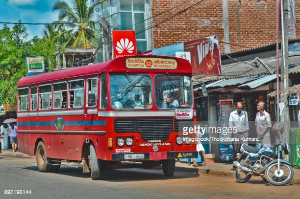 Travelling by bus in Wellawaya