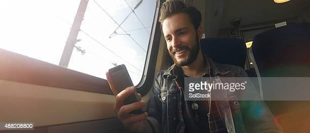 Reisen junger Mann