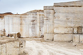Travertine stone quarry