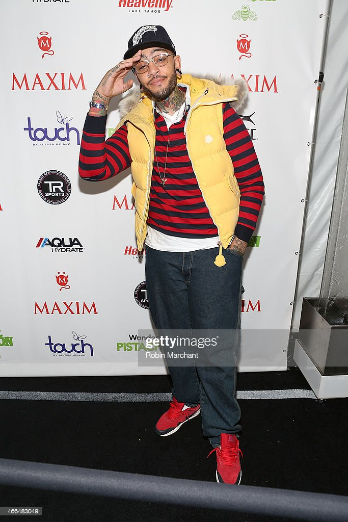 Travie McCoy of Gym Class Heroes attends Talent Resources Sports presents MAXIM 'BIG GAME WEEKEND' sponsored by AQUAhydrat, Heavenly Resorts, Wonderful Pistachios, Touch by Alyssa Milano, and Philippe Chow on February 1, 2014 in New York City.