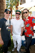 Travis Andres and musician Shannon Leto of Black Fuel Trading Company and actor/musician Jared Leto attend The Retreat Palm Springs 2016 on April 16...