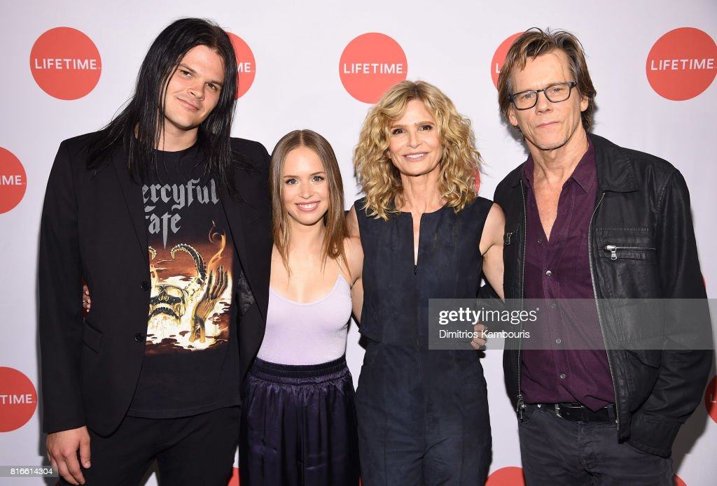 Travis Bacon, Ryann Shane, Kyra Sedgwick and Kevin Bacon attend the 'Story Of A Girl' screening at Neuehouse on July 17, 2017 in New York City.