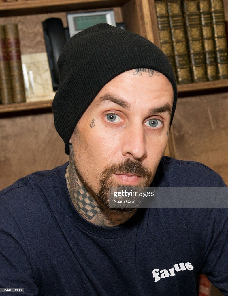 <a gi-track='captionPersonalityLinkClicked' href=/galleries/search?phrase=Travis+Barker&family=editorial&specificpeople=213206 ng-click='$event.stopPropagation()'>Travis Barker</a> attends 'Can I Say: Living Large, Cheating Death, and Drums, Drums, Drums' book signing at Strand Bookstore on June 30, 2016 in New York City.
