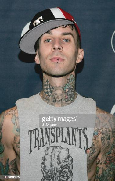 Travis Barker of Blink 182 during The 47th Annual GRAMMY Awards Radio Room Day One at Staples Center in Los Angeles California United States Photo by...