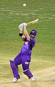 Travis Birt of the Hurricanes bats during the Big Bash League match between the Brisbane Heat and Hobart Hurricanes at The Gabba on January 15 2015...
