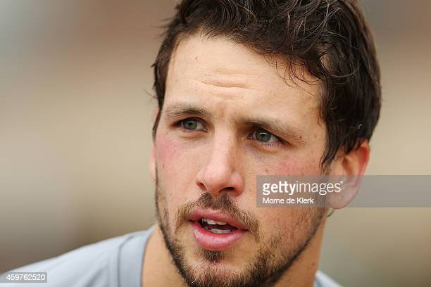 Travis Boak looks on during a Port Power AFL preseason training session at The Uni Loop on December 1 2014 in Adelaide Australia