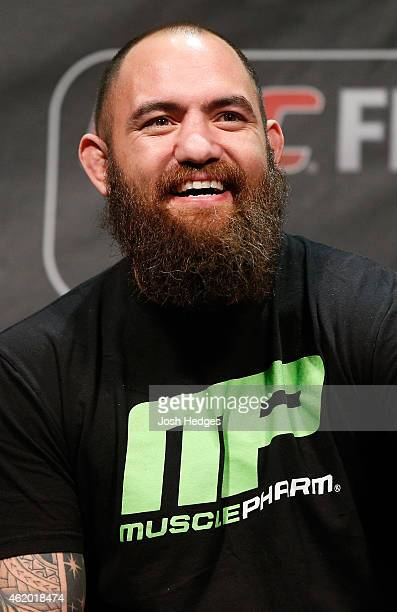 Travis Browne interacts with fans during a QA session before UFC Fight Night Weighins at the Hovet Arena on January 23 2015 in Stockholm Sweden