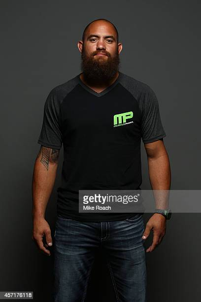 Travis Browne poses for a portrait backstage during the UFC Fight Night event at the Scotiabank Centre on October 4 2014 in Halifax Nova Scotia Canada