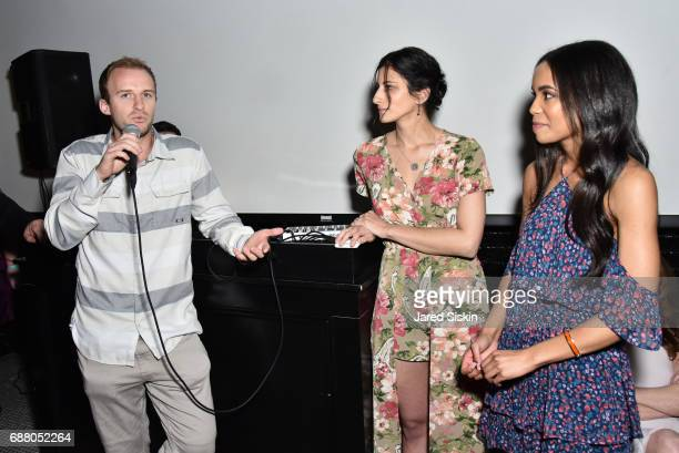 Travis Chambers Jess Edelstein and Sarah Ribner attend PiperWai NYC Launch Event at Vnyl on May 24 2017 in New York City