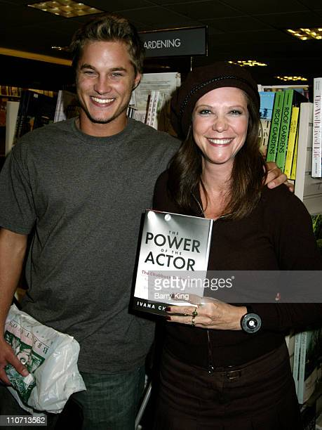Travis Fimmel and Ivana Chubbuck during Ivana Chubbuck Signs Copies of her Book 'The Power of the Actor' at Brentano's in Century City California...