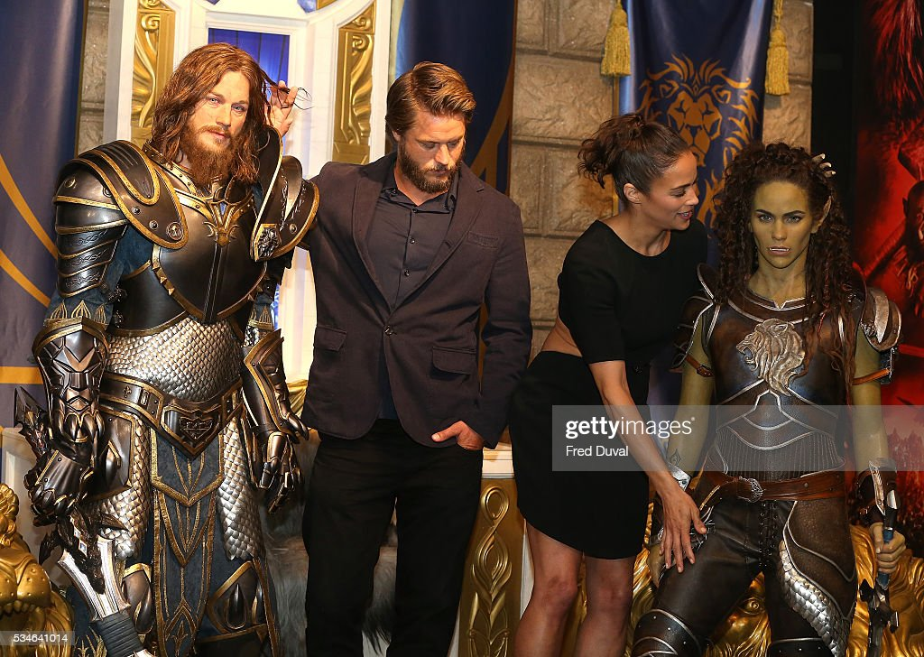 Travis Fimmel and Paula Patton attend the launch of the Warcraft Experience at Madame Tussauds on May 27, 2016 in London, England.