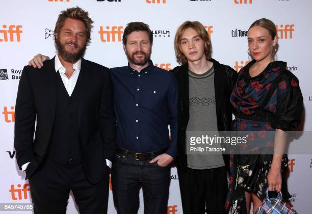 Travis Fimmel Andrew Haigh Charlie Plummer and Chloe Sevigny attend the 'Lean On Pete' premiere during the 2017 Toronto International Film Festival...