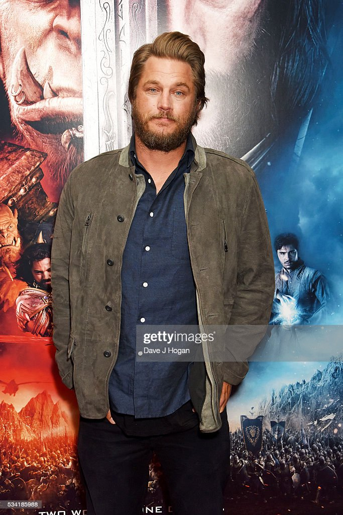 <a gi-track='captionPersonalityLinkClicked' href=/galleries/search?phrase=Travis+Fimmel&family=editorial&specificpeople=3144066 ng-click='$event.stopPropagation()'>Travis Fimmel</a> attends a special screening of 'Warcraft: The Beginning' at BFI IMAX on May 25, 2016 in London, England.
