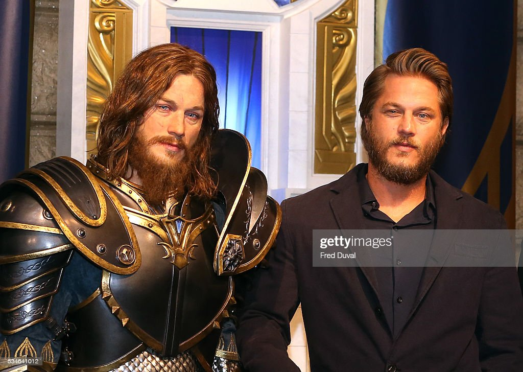 <a gi-track='captionPersonalityLinkClicked' href=/galleries/search?phrase=Travis+Fimmel&family=editorial&specificpeople=3144066 ng-click='$event.stopPropagation()'>Travis Fimmel</a> attends the launch of the Warcraft Experience at Madame Tussauds on May 27, 2016 in London, England.
