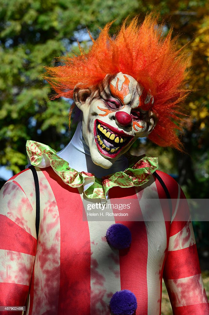 Travis Fleming came dressed at a killer clown to the 30th annual Boo at the Zoo halloween event at the Denver Zoo in Denver, CO on October 26, 2014. The event offered more than 25 trick-or-treat stations, creepy crawly animal demonstrations and family friendly entertainment for kids of all ages.