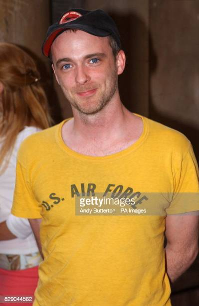 Travis frontman Fran Healy arrives for the private view of photolondon the first annual art fair in the UK dedicated to photography at The Royal...