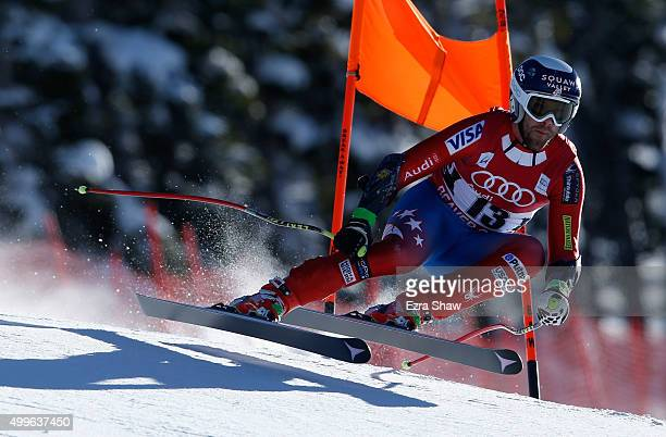 Travis Ganong of the United States competes during downhill training for the Audi FIS Ski World Cup on the Birds of Prey on December 2 2015 in Beaver...
