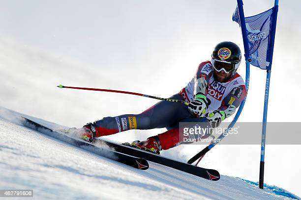 Travis Ganong of the United States races during the Men's SuperG on the Birds of Prey racecourse on Day 4 of the 2015 FIS Alpine World Ski...