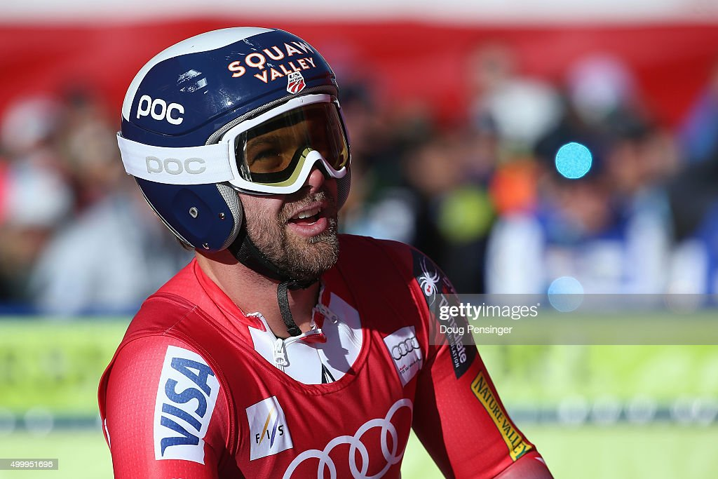 <a gi-track='captionPersonalityLinkClicked' href=/galleries/search?phrase=Travis+Ganong&family=editorial&specificpeople=6176023 ng-click='$event.stopPropagation()'>Travis Ganong</a> of the United States reacts after his finish in the men's downhill at the 2015 Audi FIS Ski World Cup on the Birds of Prey on December 4, 2015 in Beaver Creek, Colorado.