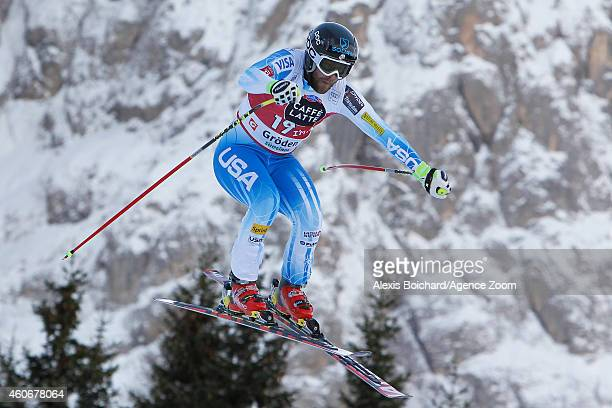 Travis Ganong of the USA competes during the Audi FIS Alpine Ski World Cup Men's Downhill on December 19 2014 in Val Gardena Italy