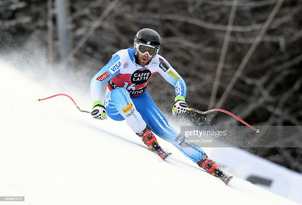 <a gi-track='captionPersonalityLinkClicked' href=/galleries/search?phrase=Travis+Ganong&family=editorial&specificpeople=6176023 ng-click='$event.stopPropagation()'>Travis Ganong</a> of the USA competes during the Audi FIS Alpine Ski World Cup Men's Downhill on December 28, 2014 in Santa Caterina Valfurva, Italy.