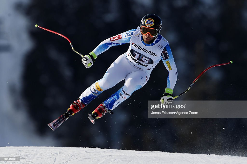 <a gi-track='captionPersonalityLinkClicked' href=/galleries/search?phrase=Travis+Ganong&family=editorial&specificpeople=6176023 ng-click='$event.stopPropagation()'>Travis Ganong</a> of the USA competes during the Audi FIS Alpine Ski World Cup Men's Downhill on March 07, 2015 in Kvitfjell, Norway.