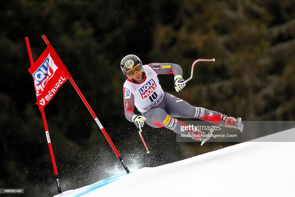 <a gi-track='captionPersonalityLinkClicked' href=/galleries/search?phrase=Travis+Ganong&family=editorial&specificpeople=6176023 ng-click='$event.stopPropagation()'>Travis Ganong</a> of the USA competes during the Audi FIS Alpine Ski World Cup Finals Men's Downhill Training on March 17, 2015 in Meribel, France.