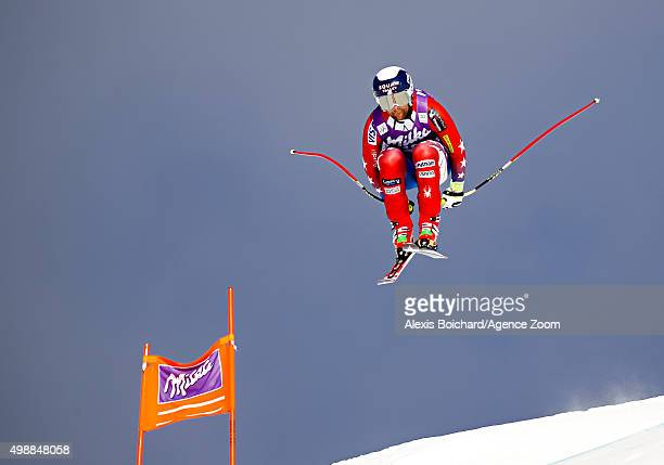 Travis Ganong of the USA competes during the Audi FIS Alpine Ski World Cup Men's Downhill Training on November 26 2015 in Lake Louise Canada