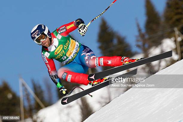 Travis Ganong of the USA competes during the Audi FIS Alpine Ski World Cup MenÕs SuperG on November 29 2015 in Lake Louise Canada