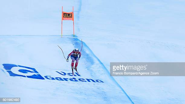 Travis Ganong of the USA competes during the Audi FIS Alpine Ski World Cup Men's Downhill on December 19 2015 in Val Gardena Italy