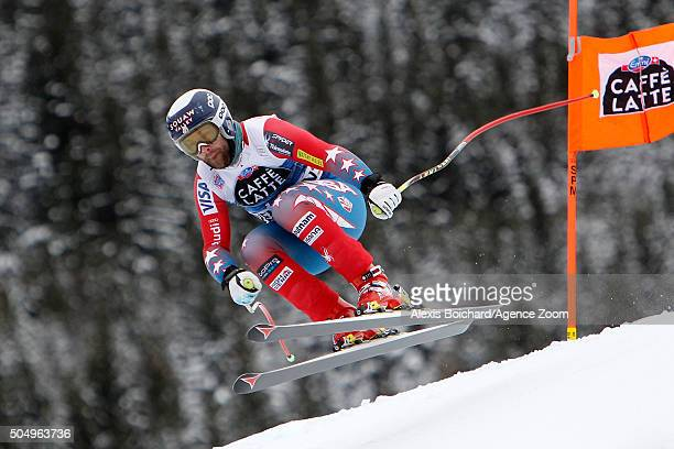 Travis Ganong of the USA competes during the Audi FIS Alpine Ski World Cup Men's Downhill Training on January 14 2016 in Wengen Switzerland