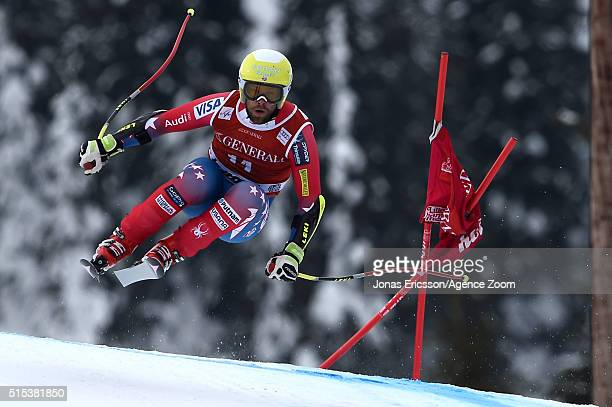 Travis Ganong of the USA competes during the Audi FIS Alpine Ski World Cup Men's SuperG on March 13 2016 in Kvitfjell Norway