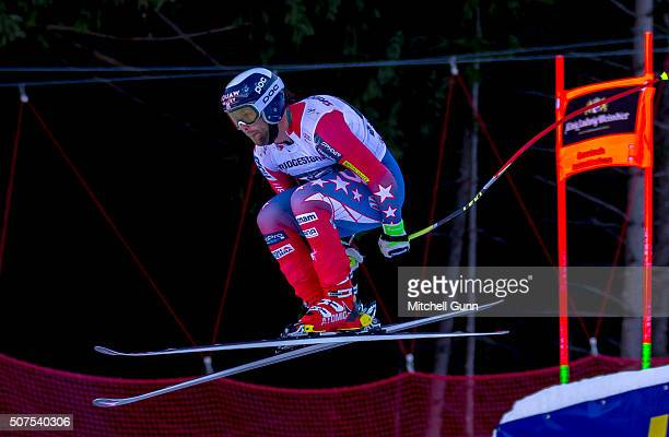 Travis Ganong of The USA competes in the the Audi FIS Alpine Ski World Cup Downhill on January 30 2016 in GarmischPartenkirchen Germany
