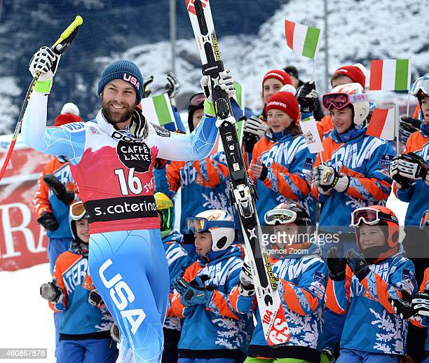 Travis Ganong of the USA takes the 1st placeduring the Audi FIS Alpine Ski World Cup Men's Downhill on December 28 2014 in Santa Caterina Valfurva...