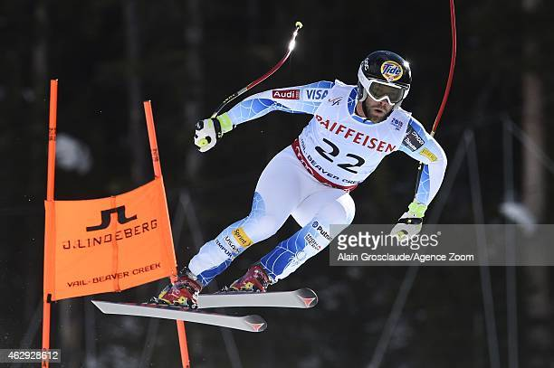 Travis Ganong of the USA wins the silver medal during the FIS Alpine World Ski Championships Men's Downhill on February 7 2015 in Beaver Creek...