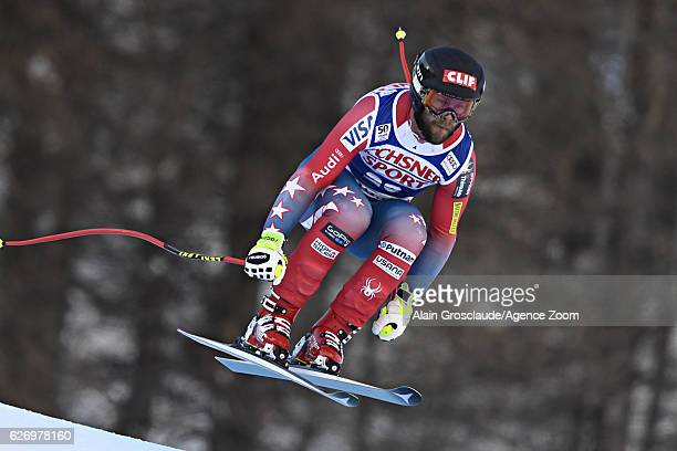 Travis Ganong of USA competes during the Audi FIS Alpine Ski World Cup Men's Downhill Training on December 1 2016 in Val d'Isere France