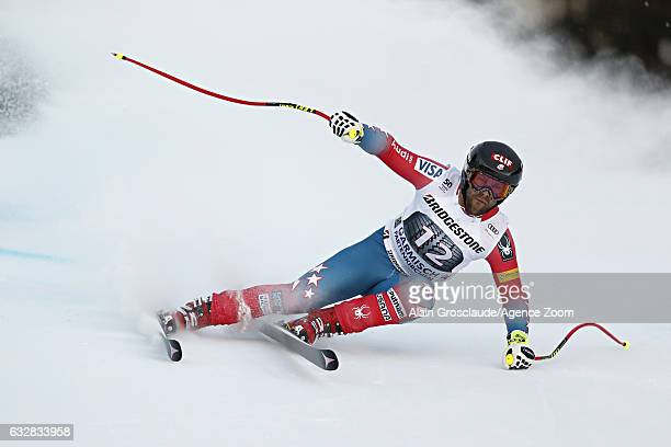 Travis Ganong of USA competes during the Audi FIS Alpine Ski World Cup Men's Downhill on January 27 2017 in GarmischPartenkirchen Germany
