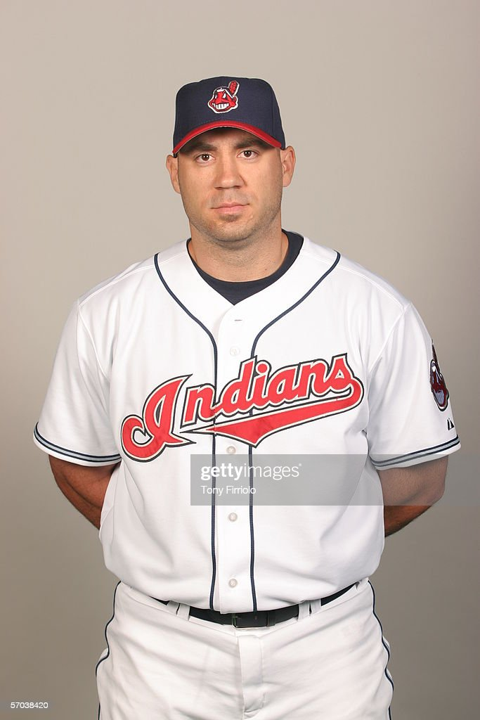 Travis Hafner of the Cleveland Indians during photo day at Chain of Lakes Park on February 28 2006 in Winter Haven Florida