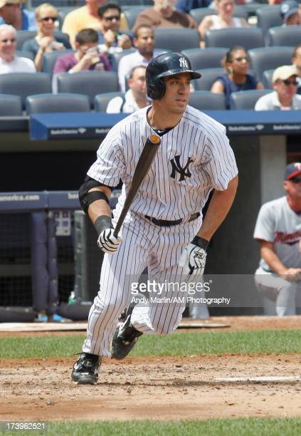 Travis Hafner of the New York Yankees bats against the Minnesota Twins at Yankee Stadium on July 14 2013 in the Bronx borough of New York City