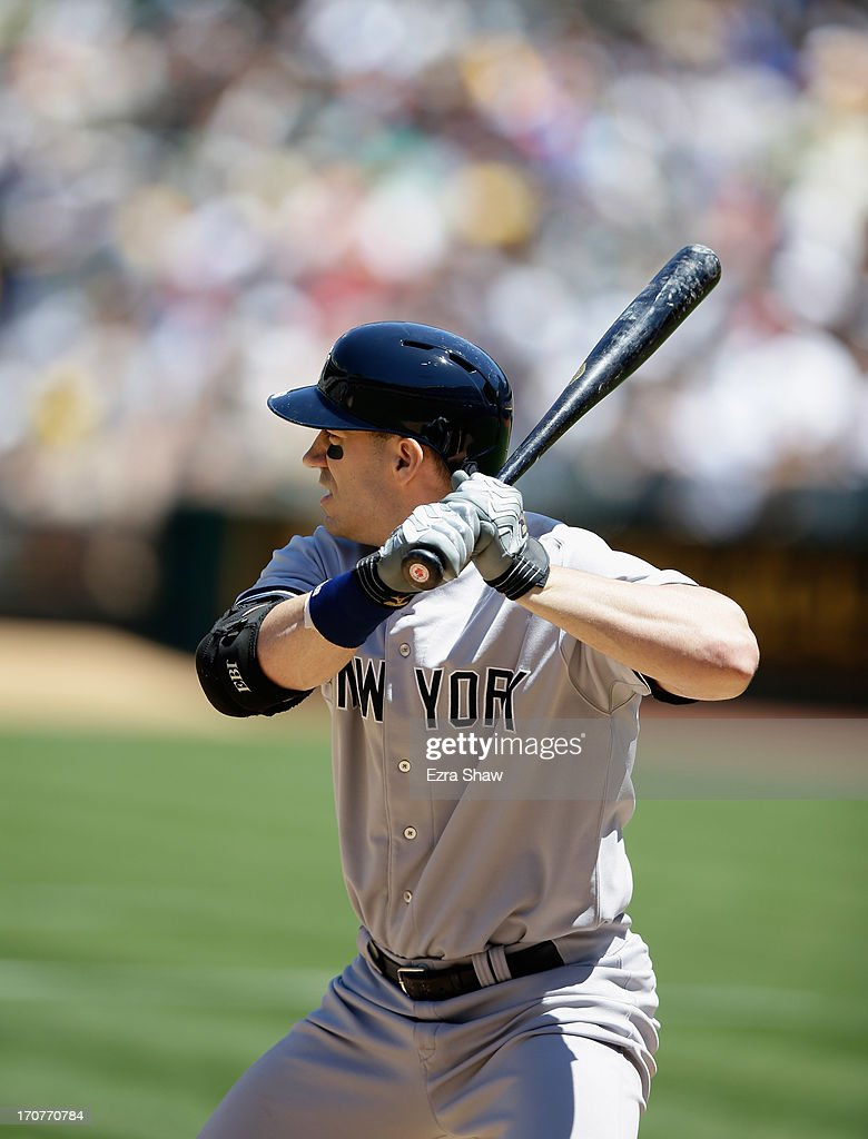 Travis Hafner of the New York Yankees bats against the Oakland Athletics at Oco Coliseum on June 13 2013 in Oakland California