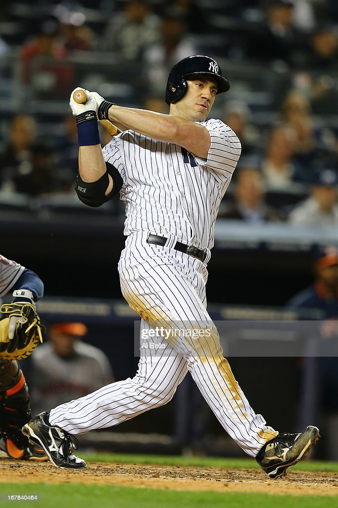 <a gi-track='captionPersonalityLinkClicked' href=/galleries/search?phrase=Travis+Hafner&family=editorial&specificpeople=220556 ng-click='$event.stopPropagation()'>Travis Hafner</a> #33 of the New York Yankees in action against the Houston Astros during their game on April 29, 2013 at Yankee Stadium in the Bronx borough of New York City