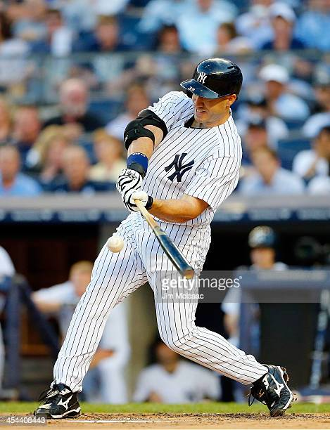 Travis Hafner of the New York Yankees in action against the Kansas City Royals at Yankee Stadium on July 10 2013 in the Bronx borough of New York...
